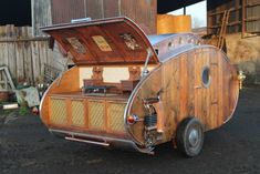 Steampunk Teardrop  built by Dave Moult in the UK (pinned by haw-creek.com)