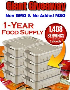 For the prepper in me to be prepared for the next climate change super storm or drought!