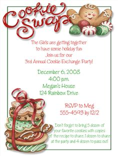 Exchange Cookie Swap Invitation Free