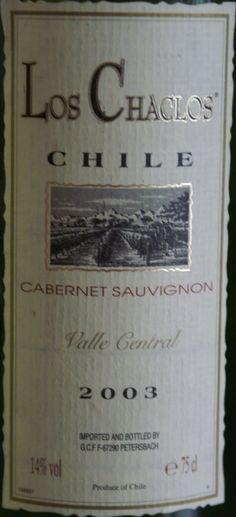 Red wine from Chile.