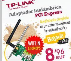 #Adaptador inalambrico TP-Link PCI Express TL-WN781ND Wifi N 150Mbps.  http://www.opirata.com/es/tplink-express-tlwn781nd-wifi-150mbps-p-9858.html