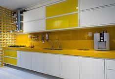 cozinhas com pastilhas amarela - Pesquisa Google