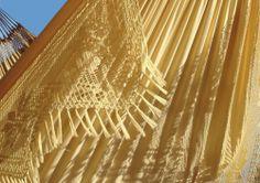 Mooie gele uitvoering van de Clarrisimo hangmat