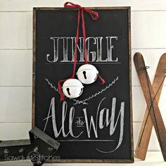 Christmas Sign sawdust2stitches.com