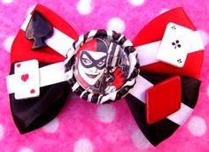 Batman Harley Quinn Comic Book Hair Bow