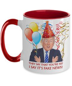 Funny 50th Birthday Trump Gift | Wife Birthday Coffee Mug | Funny 50th Gift for Her | Turning 50 Funny Gift Trump | Mom 50th Gift | Funny 60th Birthday Gifts, Special Birthday Gifts, Birthday Gift For Wife, Friend Birthday Gifts, 50th Birthday, Little Sister Birthday, Little Sister Gifts, Moms Best Friend, 50th Anniversary Gifts
