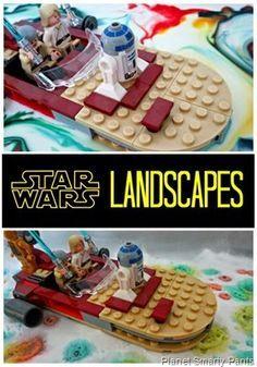 STEM activity for kids - Star Wars Landscapes