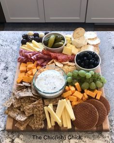 Charcuterie // cheese board // meats and cheeses // meat and cheese platter // de mayo party ideas food appetizers dip recipes Chic(ish) Charcuterie: The Chic(ish) Chick Charcuterie Recipes, Charcuterie And Cheese Board, Charcuterie Platter, Charcuterie Picnic, Cheese Board Display, Meze Platter, Hummus Platter, Cheese Boards, Meat Appetizers