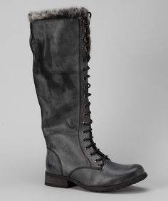 Take a look at this Bucco Black Adela Seamed Boot on zulily today!