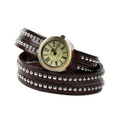 Reloj Pulsera de Esencia Femenina, cuero marrón