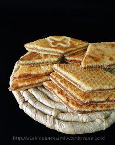 brajs - galette algérienne de semoule et beurre farcie de pâte de dattes préparée à l'occasion du printemps - cuisine à 4 mains