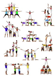 Yoga for Weight Loss: What you need know to succeed sextetos de acrosport Acro Yoga Poses, Dance Poses, Group Yoga Poses, Partner Yoga, Acro Danza, Chico Yoga, Family Yoga, Cheer Workouts, Acrobatic Gymnastics