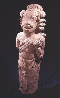 """Nok Terracotta Sculpture of a Warrior or a Hunter - PF.4569 (LSO)  Origin: Northern Nigeria  Circa: 500 BC to 200 AD  Dimensions: 26.75"""" (67.9cm) high x 9"""" (22.9cm) wide  Catalogue: V24  Collection: African  Medium: Terracotta"""
