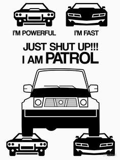 T-shirt 'Patrouille Nissan' par playloud Nissan Patrol, Nissan Gt, Patrol Gr, 4x4 Off Road, Shirt Print Design, Mini Cooper S, Vroom Vroom, Beautiful Eyes, Metal Art