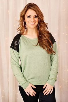 Glamour Farms - Simple Sequins Top - $32