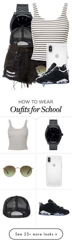 """""""Untitled #5520"""" by dianna-argons-lover on Polyvore featuring Nixon, Miss Selfridge, Ray-Ban, Speck and Retrò"""