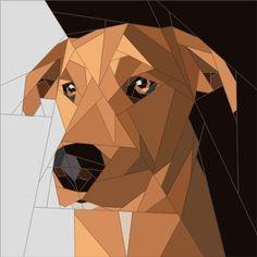 Labrador Cross Paper Piecing Pattern www.quiltartdesigns.blogspot.com