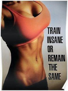Fitness Inspirational Quote And Saying Poster. Fitness Inspirational Quote And Saying Poster. Home Exercise Program, Ab Workout At Home, Workout Programs, At Home Workouts, Workout Plans, Butt Workouts, Workout Kettlebell, Train Insane Or Remain The Same, Body Fitness