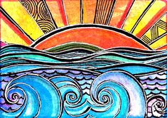 Sunset Painting by Robin Mead - Sunset Fine Art Prints and Posters for Sale