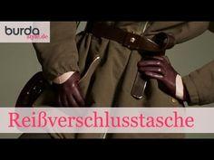 burda style – Reißverschlusstasche nähen - YouTube
