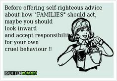 Haha funny how you said such mean stuff about my family that you don't even know and you treat everyone in your own like crap!