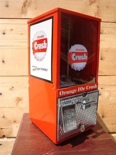 1950s *ORANGE CRUSH* Gumball Candy Machine Coke Sign Soda Coin Op Advertising | eBay Soda Machines, Vending Machines, Pepsi, Coke, Antique Signs, Soft Drink, Vintage Candy, Orange Crush, Diners