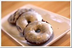 Grain-Free Chocolate Cake Donuts with Vanilla Bean Glaze - I would use zylitol for a sweetener but otherwise these look awesome.