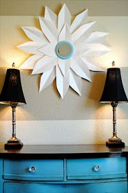 i should be mopping the floor: DIY Starburst Mirror {from posterboard}