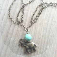 Lucky Elephant. a long necklace |Lemon Kissed