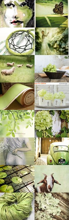 Brave: Chartreuse Dream by Lee DeLauri on Etsy--Pinned+with+TreasuryPin.com
