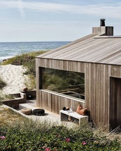 Mackenzie Brown – Summer Cottage sqm), Skagen, Denmark by… - Strandhaus Skagen, House In The Woods, My House, Future House, Small Summer House, Tiny Beach House, Design Exterior, Timber Cladding, Scandinavian Home
