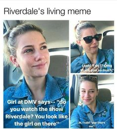 The post Likes, 4490 Comments & Riverdale ♔ (Pamela Braden.series) on In appeared first on Riverdale Memes. Memes Riverdale, Bughead Riverdale, Riverdale Funny, Riverdale Tv Show, Archie Comics, Live Meme, Riverdale Cole Sprouse, Betty And Jughead, A Silent Voice