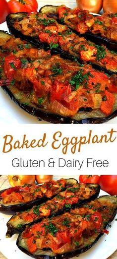 Baked Eggplant #eatrealfood #glutenfree #dairyfree #healthyitalian #nightshade