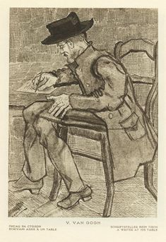 Vincent Van Gogh A Writer at his Table