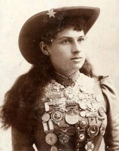 Annie Oakley born Phoebe Ann Moses.  Annie began trapping at a young age, and shooting and hunting by age eight to support her siblings and her widowed mother. She sold the hunted game for money to locals in Greenville, as well as restaurants and hotels in southern Ohio. Her skill eventually paid off the mortgage on her mother's farm when Annie was 15.