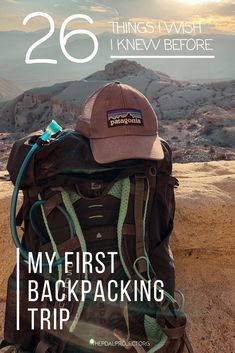 Tips for Your First Backpacking Trip or Camping Adventure |  Here's what you need to know before your first backpacking trip, complete with budget and beginner-friendly gear recommendations to get you trail-ready.  #campingtips #backpackinggear