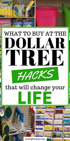 Wondering what to buy at the Dollar Tree! You have to check out these must have money saving finds. These cheap dollar tree hacks will save you money on everyday essentials for your home. I need to start shopping here on the regular. Best Money Saving Tips, Money Saving Challenge, Saving Money, Money Tips, Money Savers, Dollar Store Hacks, Dollar Store Crafts, Dollar Stores, Dollar Store Decorating
