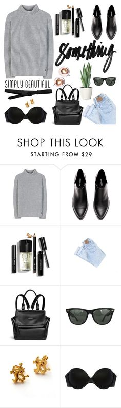"""""""Untitled #1952"""" by aanyaa ❤ liked on Polyvore featuring Loro Piana, Bobbi Brown Cosmetics, Givenchy, Martha Stewart, Ray-Ban, Nicola Crawford, Addiction and Lowie"""