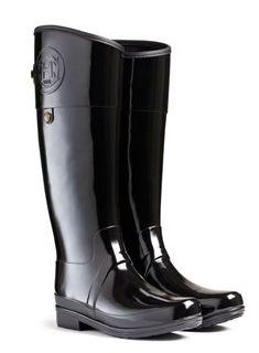 6838677fe6c5 Sandhurst Carlyle Wellington boot by Hunter Black Hunter Boots