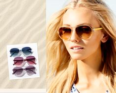Translucent, chunky resin frames give these MICHAEL Michael Kors aviators a decidedly 2013 jet-setter vibe.  #nordstrom