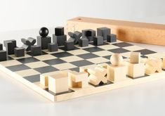 Bauhaus Chess Set - Board and Pieces