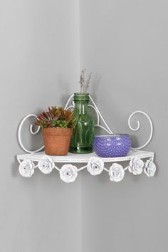 Rose Corner Shelf