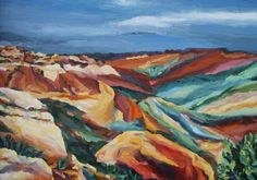'Coloured Sands' ABBY PERRINS ART www.abbyperrinsart.co.uk