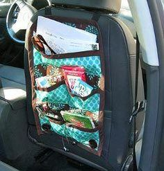 Cool Car Caddy Straps On To Headrest