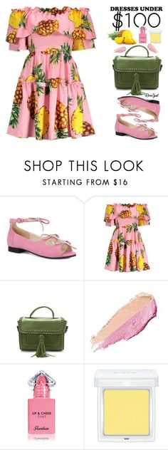 """""""64. Rosegal Dresses Under $100"""" by justkejti ❤ liked on Polyvore featuring By Terry, Guerlain, RMK, under50, tropicalprint, under100, rosegal and Dressunder50"""
