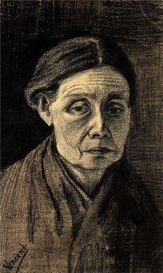 Head of a Woman, 1883 Vincent van Gogh