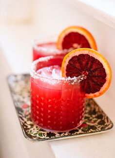 Skinny Blood Orange Margaritas - Cookie and Kate