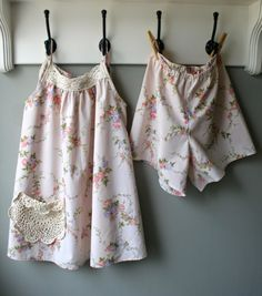 mmmcrafts: and another set of summer jammies from thrifted sheets
