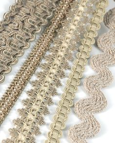 Gimps, tapes, braids galore! Available by BRIMAR. #brimar  #trim