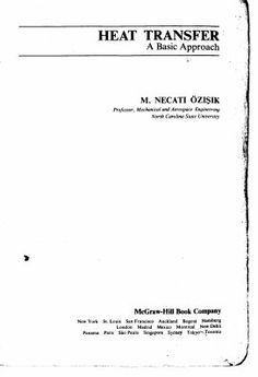 Solution manual for heat and mass transfer fundamentals and download heat transfer a basic aproach by m ozisik fandeluxe Image collections